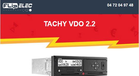 entete tachy- 2.2 vdo - derniers stocks