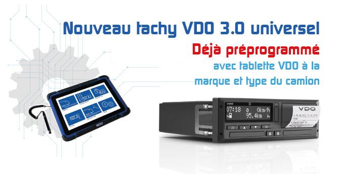 Tachy VDO 3.0 prérogrammé